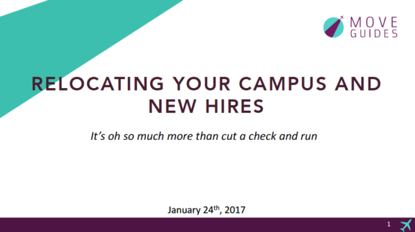 Webinar Recording And Slides – Relocating New Campus Hires